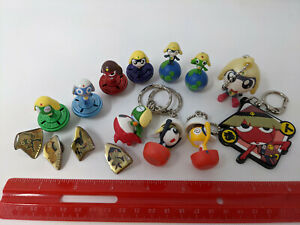 Keroro Gunso LOT Sgt Frog Figures Wobble Balance Toys Keychain Enamel Pins Japan