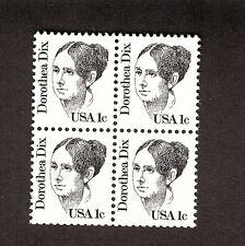 1 CENT DOROTHEA DIX SCOTT # 1844, BLOCK OF 4, MNH 1983 BLACK HISTORICAL FIGURE