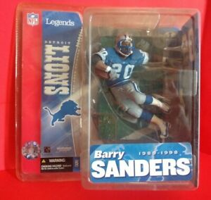 BARRY SANDERS DETROIT LIONS MCFARLANE NFL FOOTBALL FIGURE LEGENDS