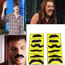 12xFancy Dress Party Beard Moustache Costume Mustache Halloween Novetly Joke DIY