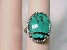 NATURAL 9.35ct Turquoise 925 sterling silver ADJUSTABLE ring USA made