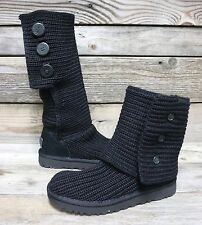 UGG Australia Womens Classic Cardy Black Tall Slouch Boots US 6 NEW