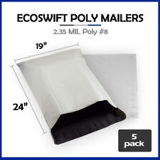 5 19x24 Ecoswift Poly Mailers Large Plastic Envelopes Shipping Bags 235mil
