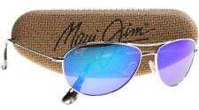 MAUI JIM Aviator Silver Blue Mirror Sunglasses Baby Beach B245-17 Titanium NEW