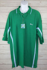 "ENYCE CLOTHING CO. Mens 3XL Green ""E"" LOGO Short Sleeve Polo Shirt NWT"