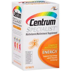 Centrum Specialist Energy Complete Multivitamin Supplement (120-Count Tablets)