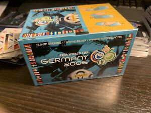 Panini Germany 2006 World Cup Sealed Sticker Box contains 100 sticker packs