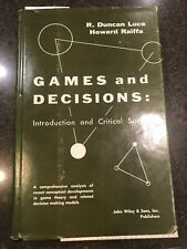 Games and Decisions: Introduction And Critical Survey (1958) Hardback