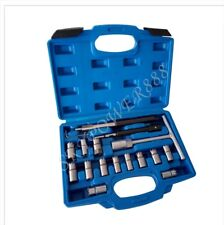 17Pc Diesel Injector Seat Cutter Clearner Set