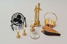 Dollhouse Miniature Heating, Coolin and Lighting items, lot of 10 (Acc#34)