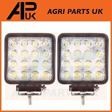 Pair 48W LED work Light Lamp 12V Flood Beam 24V Square Trailer Offroad 4X4 SUV