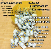 (4) Pioneer SX-1050 Receiver WARM WHITE 8v LED WEDGE BULB 300mA