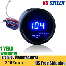 "2"" 52mm Cover Car Universal Digital Blue LED Water Temp Gauge Fahrenheit F"