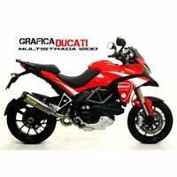 KIT ADESIVI STICKERS CARENA ADESIVO DUCATI MULTISTRADA BIANC GRAFICA CARENE 1200