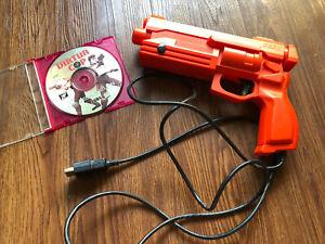 Sega Saturn Stunner Light Gun With Virtua Cop Game