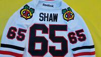 Andrew Shaw Chicago Blackhawks Jersey Mens Large white Reebok Stanley Cup Era