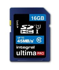 Integral 16GB UltimaPro SD SDHC Memory Card 45MB/s Class 10 For Digital Camera