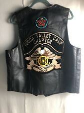 Yucca Valley Harley Owners Group (HOG) Leather Vest Unknown Size