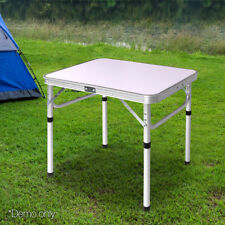 4 Seater Camping Table Fold Easy Storage Aluminium Strong Adjust Height Light