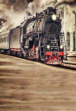 5x7ft photo background vinyl studio photography backdrops moving train props