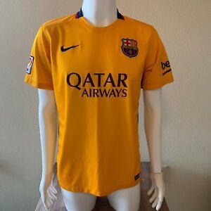 Nike FC Barcelona 2015/16 Away Jersey Men's Size Large Soccer - La Liga