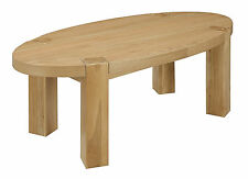 Less than 60cm High Oak Oval Coffee Tables