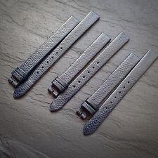 LONGINES 11mm / 10mm DEEP BLUE Heavy Grain LEATHER Cuir Swiss Watch Strap NOS