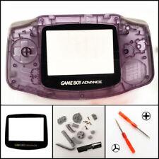 GBA Nintendo Game Boy Advance Replacement Housing Shell GLASS Screen Purple
