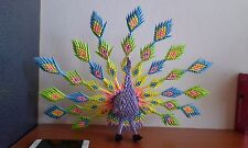 3D ORIGAMI SUPER LARGE PEACOCK 12
