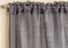 Tyrone Textiles Casablanca Slot Top Single Panel Curtain Grey 137cm W X 122cm L