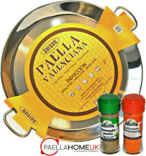 STAINLESS STEEL PAELLA PAN 46cm INDUCTION & VITROCERAMIC + PAELLA GIFT