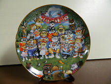 Bill Bell Father's Day Cat Plate Purrfect Pops