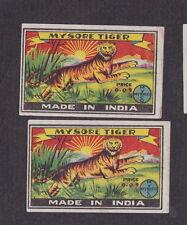 Ancienne étiquette allumettes Inde   BN19058 Tigre Soleil