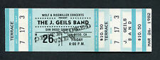 Original 1982 U2 J. Geils Band Unused Full Concert Ticket October Tour San Diego