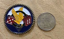 ARMY 101ST AIRBORNE DIVISION 506th MILITARY LOGO FLAG CHALLENGE COIN