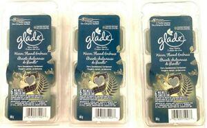 (Pack of 3) Glade WARM FLANNEL EMBRACE Fern Sandalwood Cardamom Wax Melt Refills