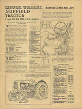 Nuffield Tractor M3 M4 PM3 PM 4 1948-1953 Motor Trader Service Data No. 204 1953