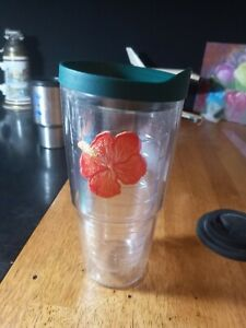 Tervis tumbler 24 oz lid with flower green lid