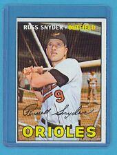 1967 Topps Baseball Card #405 Russ Snyder (Baltimore Orioles) EM AJ00595