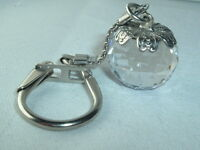 GLASS FACETED BALL KEY CHAIN