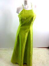 Pelicana Mujer Verde Poliéster Vestido Formal Vestido TALLA L