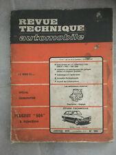 RTA N°285 PEUGEOT 504 à injection dont coupé cabriolet  L14