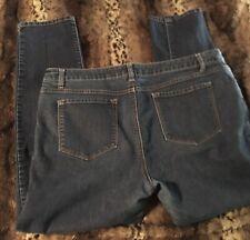 Apt 9 Skinny Leg Modern Fit Womens Dark Blue Wash Denim Jeans Size 14 Stretch!