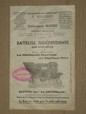 Prospectus Batteuse BEAUPRE Tracteur brochure traktor tractor prospekt trattore