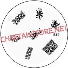 Stamping plaque pochoir B69 pour vernis Konad nail art