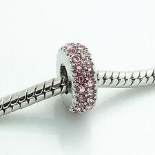 Hot 2pcs silver round European Charm Beads Fit 925 Necklace Bracelet Chain #01