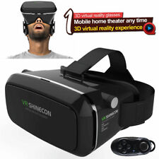 3D Virtual Reality VR Headset Movie Game Glasses 3D Glasses Cardboard Remote