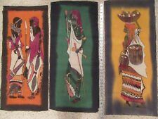 Kenya Antique British Native Police,Military,Id Papers Holder & Masai Art Cloth