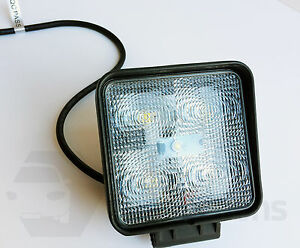 15W 5 LED square worklamp spot flood beam light 12 24v offroad tractor truck 4x4