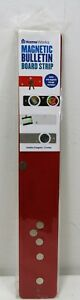 Magnetic Bulletin Board Strip RED • Office Post Without Puncture by HomeWorks